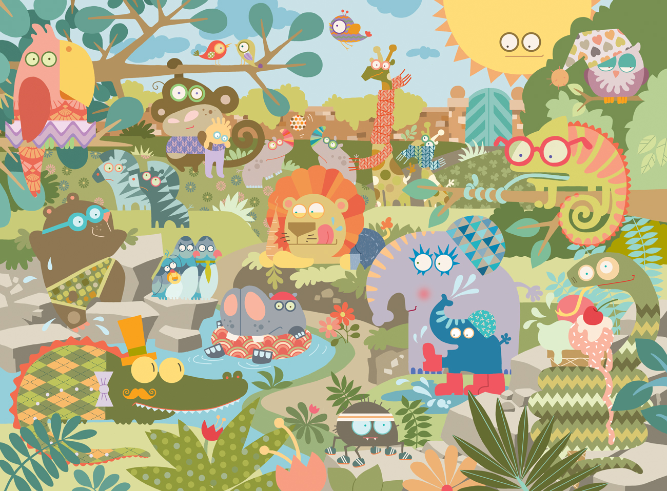 Zoo Puzzle Studio Lindalu Illustrations That Convey